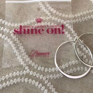 Premier Designs Silver Earrings NEW in package